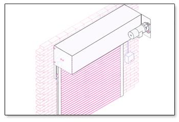 roller shutter sketch